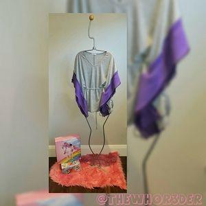 *NEW* Grey & Purple Flowy Top💜